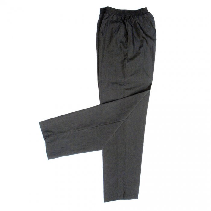 Cozymo, Elastic Waist Nylon Pants With Two Pockets, Black, Medium