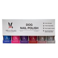 Warren London Polish Bottles with Brush [6 Pack]