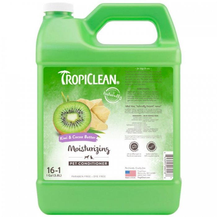 Tropiclean Kiwi & Cocoa Butter Moisturizing Pet Conditioner [1 Gallon]