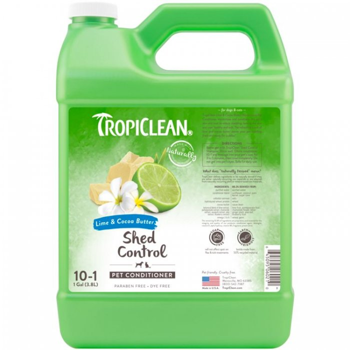 Tropiclean Lime & Cocoa Butter Shed Control Pet Conditioner [1 Gallon]