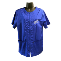 Cozymo, Loose Fit, Zip Up Royal Blue, Embroidery, Small