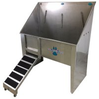 "Groomer's Best Walk-Through Bathing Tub with Left Side Sliding Ramp and Door [48""]"