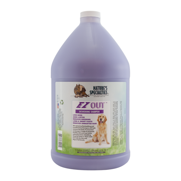 Nature\'s Specialties EZ Out Dog & Cat Shampoo - Gal